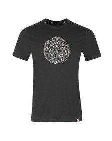 Pretty Green Mens Black Paisley Applique T-Shirt