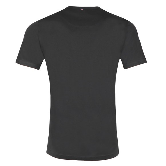 Pretty Green Mens Black Paisley Applique T-Shirt main image