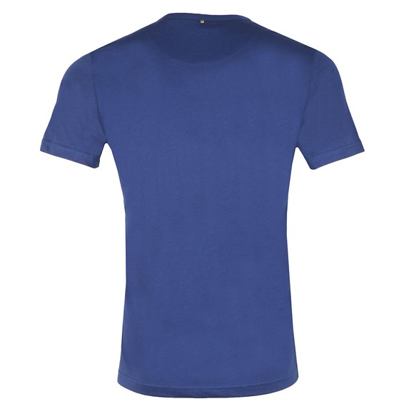 Pretty Green Mens Blue Paisley Applique T-Shirt main image
