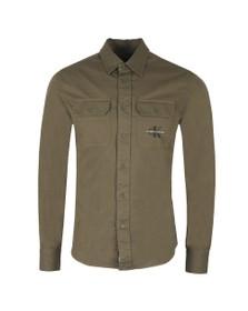 Calvin Klein Jeans Mens Green Utility Shirt
