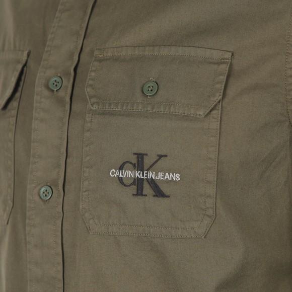 Calvin Klein Jeans Mens Green Utility Shirt main image