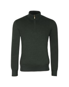 Barbour Lifestyle Mens Green Gamlin 1/2 Zip Jumper