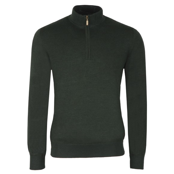 Barbour Lifestyle Mens Green Gamlan 1/2 Zip Jumper