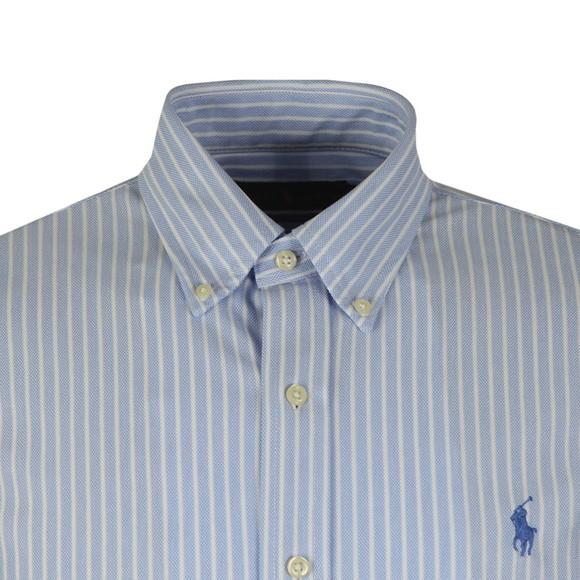 Polo Ralph Lauren Mens Blue Knitted Oxford Shirt