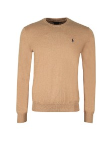 Polo Ralph Lauren Mens Brown Crew Neck Cotton Knitted Jumper