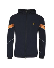 Lyle and Scott Mens Blue Printed TrackTop