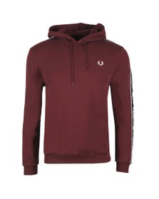 Fred Perry Mens Brown Taped Sleeve Hoodie
