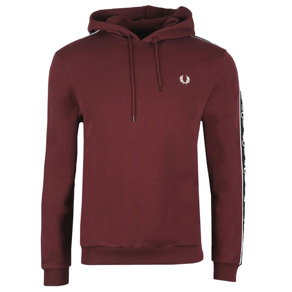 Fred Perry Mens Brown Taped Sleeve Hoodie main image