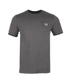 Fred Perry Mens Grey Twin Tipped T-shirt