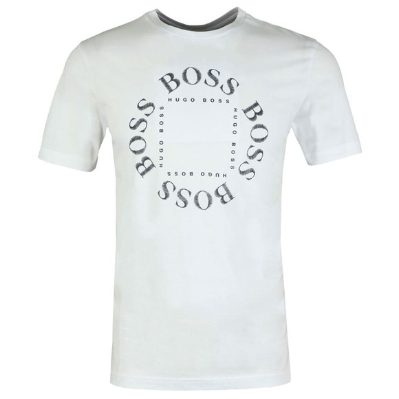 BOSS Mens White Athlesiure Tee 1