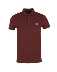 BOSS Mens Red Casual Passenger Polo Shirt
