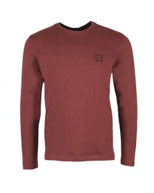 BOSS Mens Red Casual Tacks Long Sleeve T Shirt