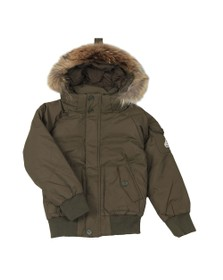 Pyrenex Boys Green Jami Fur Jacket