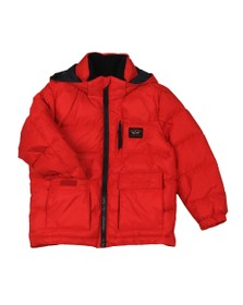 Paul & Shark Cadets Boys Red Chest Zip Puffer Jacket