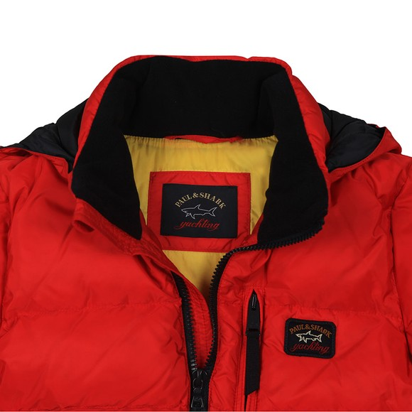 Paul & Shark Cadets Boys Red Chest Zip Puffer Jacket main image