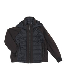 Paul & Shark Cadets Boys Black Mixed Fabric Shell Jacket