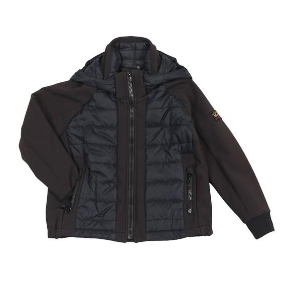Paul & Shark Cadets Boys Black Mixed Fabric Shell Jacket