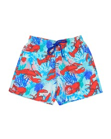 Vilebrequin Mens Red Lobster & Coral Swim Short