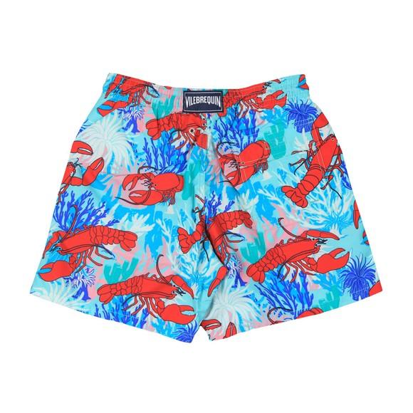 Vilebrequin Mens Red Lobster & Coral Swim Short
