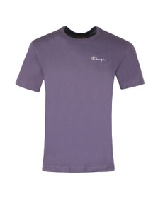 Champion Reverse Weave Mens Purple Small Script Logo T-Shirt