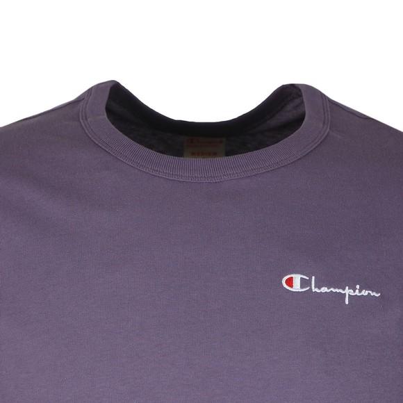 Champion Reverse Weave Mens Purple Small Script Logo T-Shirt main image