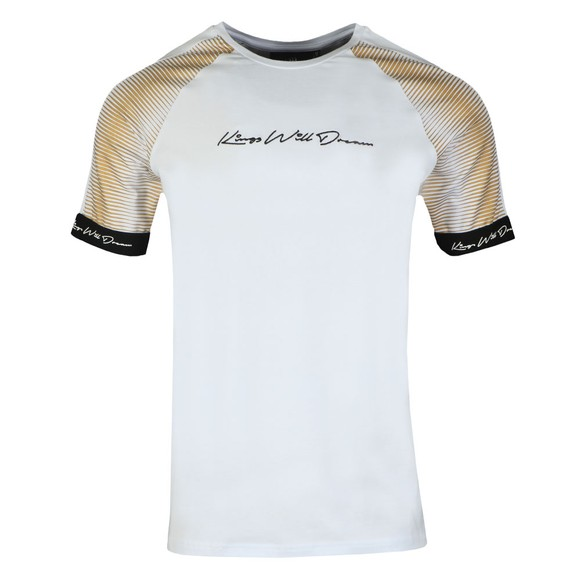 Kings Will Dream Mens White Geo Sleeve T-Shirt main image
