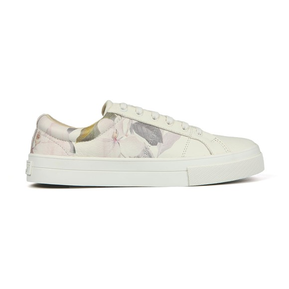 Ted Baker Womens Off-White Ephielp Printed Leather Trainer main image