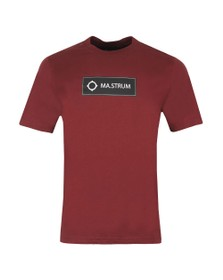 Ma.Strum Mens Red Icon Box Logo T-Shirt