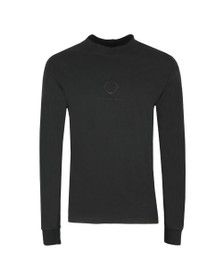 Ma.Strum Mens Black GD Relaxed Long Sleeve T Shirt