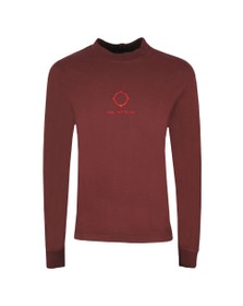 Ma.Strum Mens Red GD Relaxed Long Sleeve T Shirt