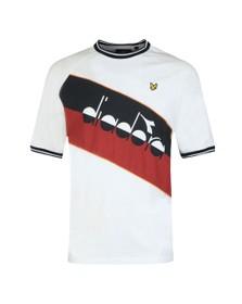 Lyle & Scott x diadora Mens White Block T-Shirt