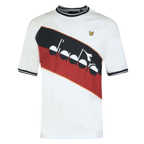 Lyle & Scott x diadora Mens White Block T-Shirt main image