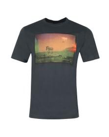PS Paul Smith Mens Grey UFO Zebra T-Shirt
