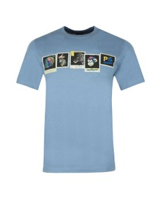 PS Paul Smith Mens Blue Photos T-Shirt