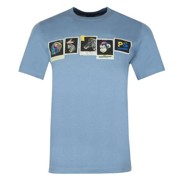 PS Paul Smith Mens Blue Photos T-Shirt