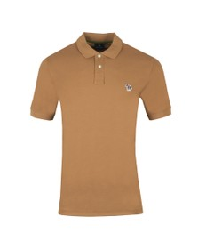 PS Paul Smith Mens Beige Zebra Polo Shirt