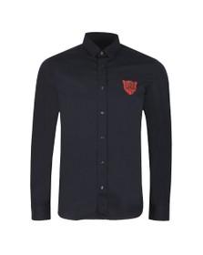 HUGO Mens Blue Emero Long Sleeve Shirt