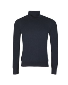 BOSS Mens Blue Kamerlos Roll Neck Jumper