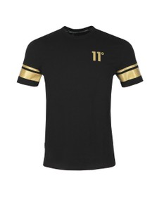 Eleven Degrees Mens Black Double Stripe T-Shirt