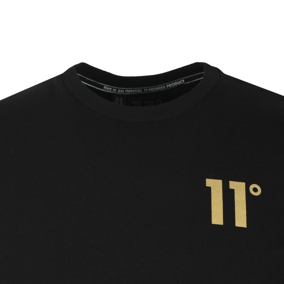 Eleven Degrees Mens Black Double Stripe T-Shirt main image
