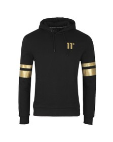 Eleven Degrees Mens Black Double Stripe Hoodie