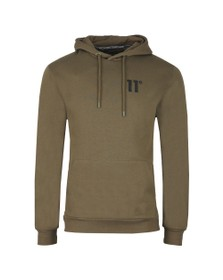 Eleven Degrees Mens Green Core Pull Over Hoody
