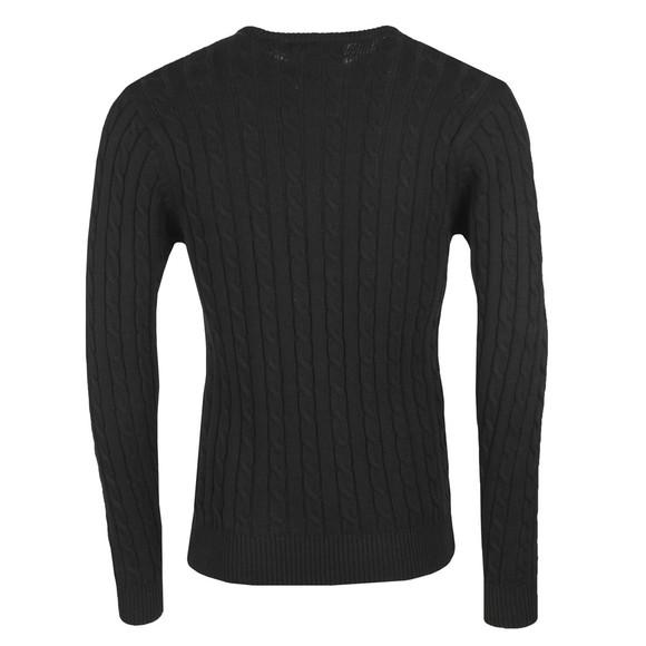 Luke 1977 Mens Black Hortons Cable Jumper main image