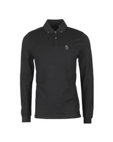 Luke 1977 Mens Black Long New Bill LS Lion Embroidery Polo