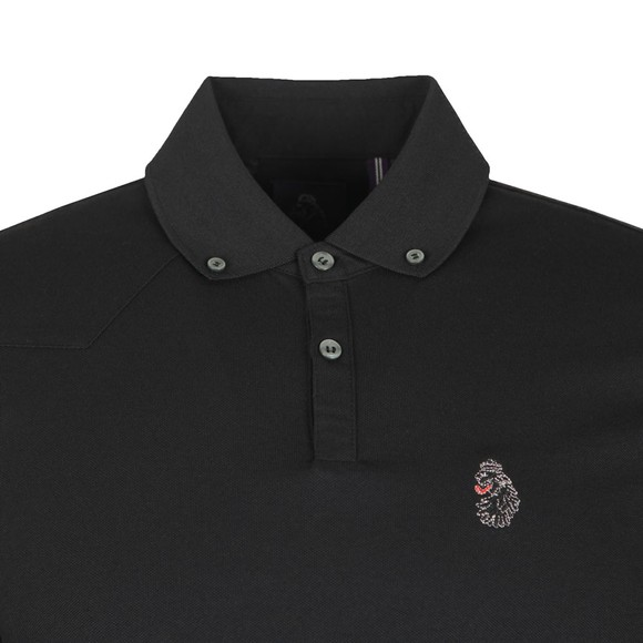 Luke 1977 Mens Black Long New Bill LS Lion Embroidery Polo main image