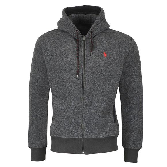 Polo Ralph Lauren Mens Black Full Zip Hooded Fleece