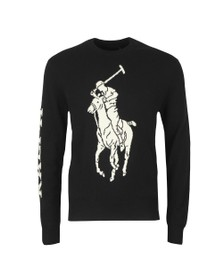 Polo Ralph Lauren Mens Black Big Polo Player Knitted Jumper