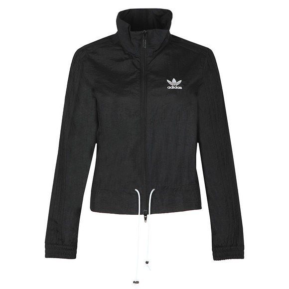 adidas Originals Womens Black Ruffle TrackTop