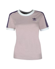 adidas Originals Womens Purple 3 Stripes Tee