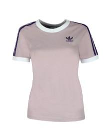 adidas Originals Womens Purple 3 Stripes T-Shirt